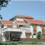 Slanting Roof Indian Home Elevation Design House Plans