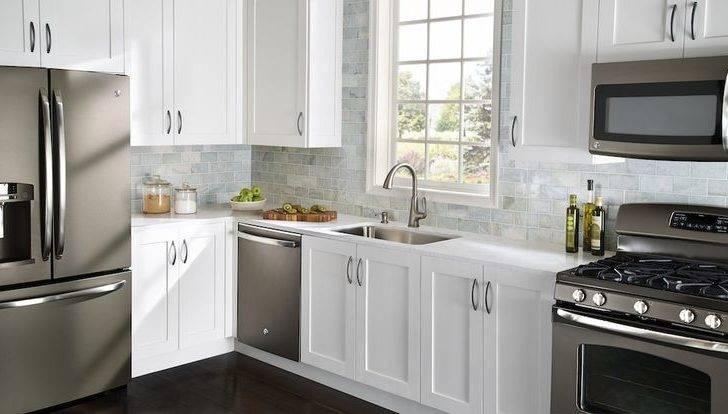Slate Appliances Dream Kitchen Ideas White Cabinets