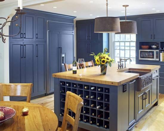 Slate Blue Cabinets Home Design Ideas Remodel Decor
