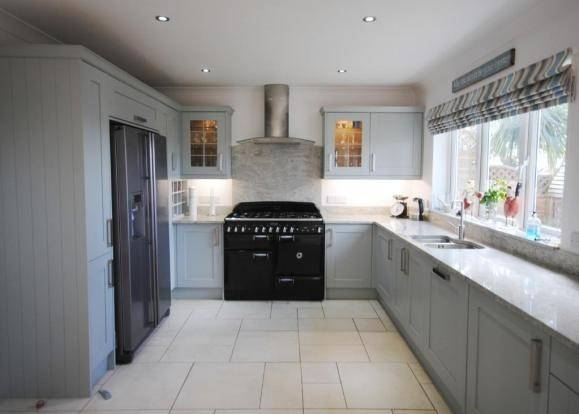 Slate Blue Kitchen Cabinets Weathered Stunner Traditional