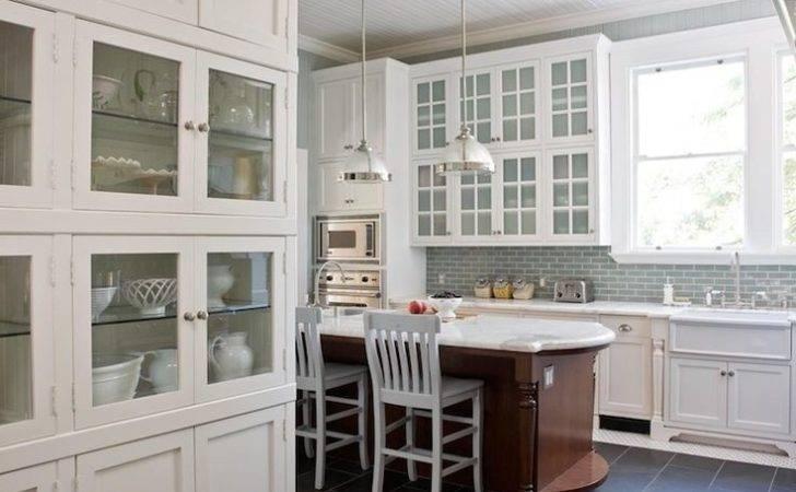 Slate Blue Kitchen Cabinets White Painted Units