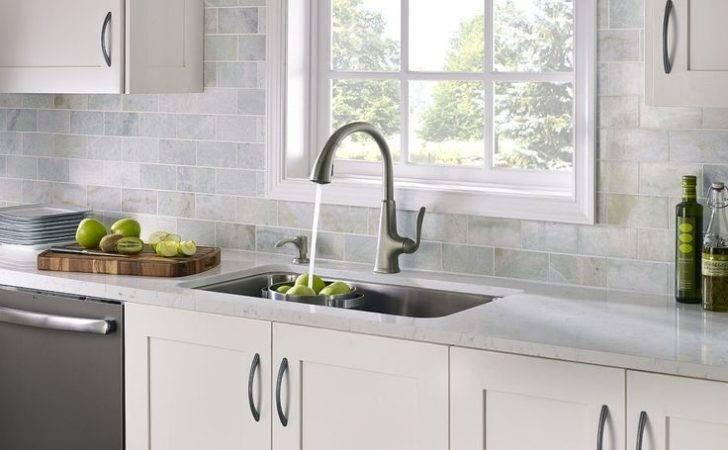 Slate Kitchen Appliances White Cabinets Subway