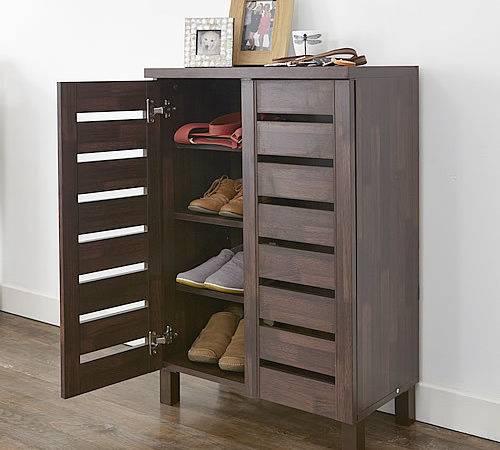 Slatted Shoe Storage Cabinet Racks