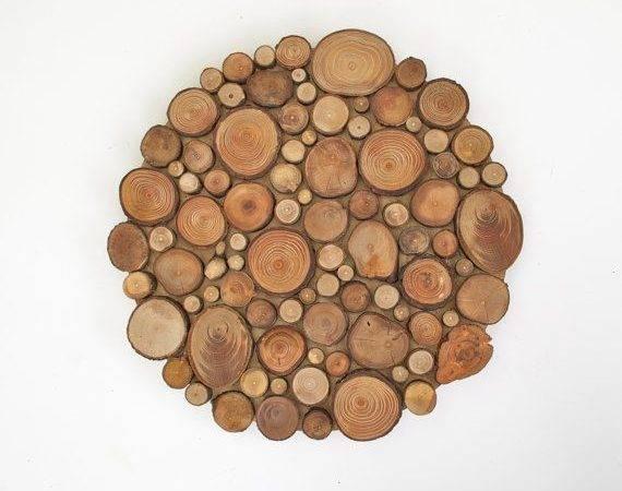Slice Centerpiece Trivet Decorative Wall Art Wooden Rounds Wood