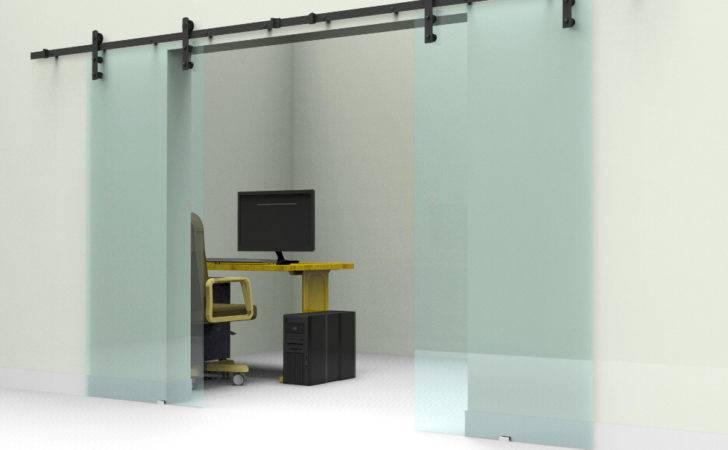Sliding Barn Glass Door Track Hardware Interior