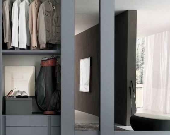 Sliding Closet Doors Grey Frames Masculine Well Organized