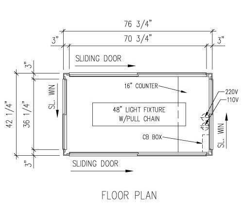 Sliding Door Plan