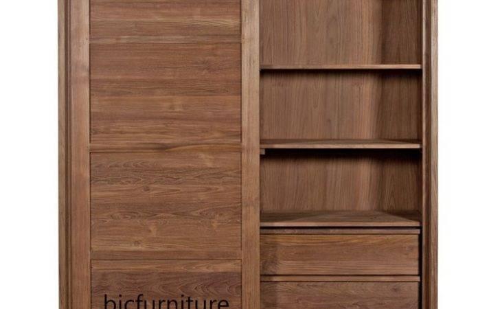 Sliding Door Teakwood Wardrobe Quality Contemporary Home Furniture