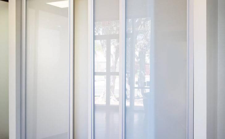 Sliding Glass Closet Doors Milky