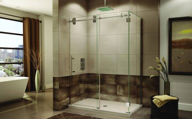 Sliding Glass Shower Enclosure Bathrooms Frameless Doors