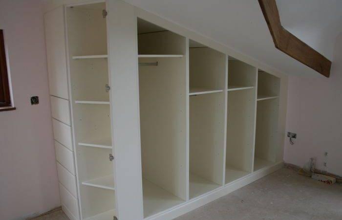 Sloped Ceiling Closet Home Renovations Pinterest