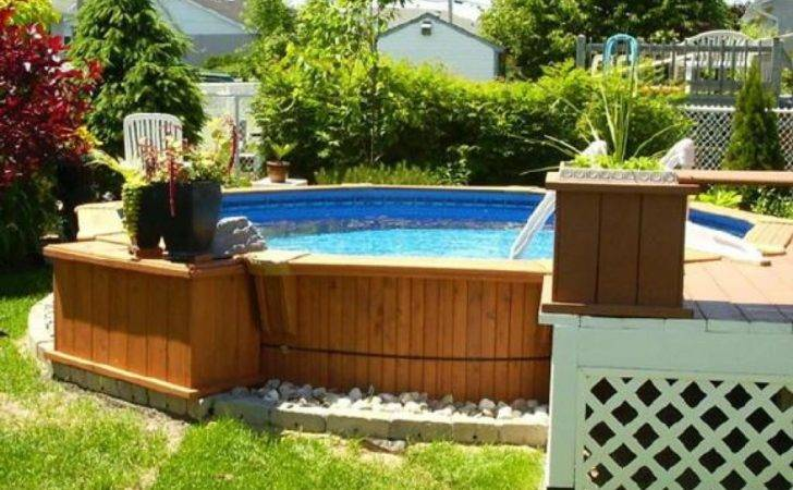 Small Backyard Ideas Above Ground Pool