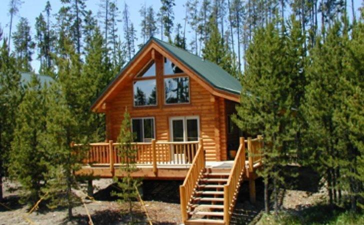 Small Cabin Floor Plans Bedroom Loft Cabins