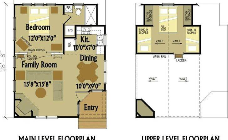 Small Cabin Floor Plans Loft Shed Runin Sheds