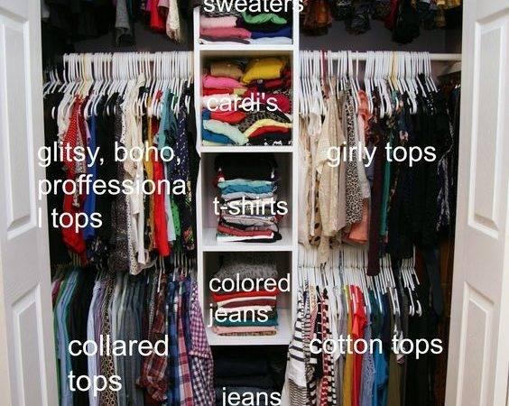 Small Closet Pinspiration Pinterest Organization Sma