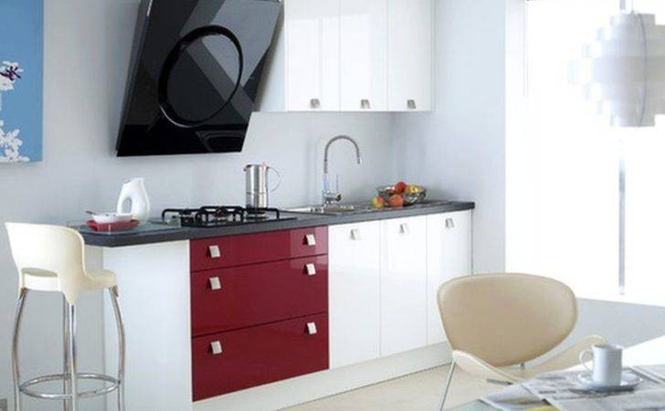 Small Compact Kitchen Ideas Gray Cabinet Storage Well