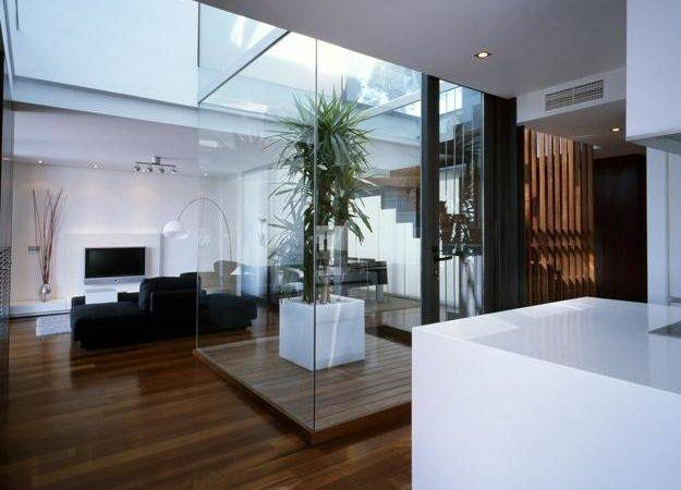 Small Contemporary Homes Enhancing Modern Interior Design Glass