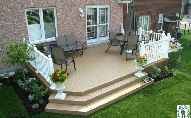 Small Deck Designs Plan Medium Two Level Mid