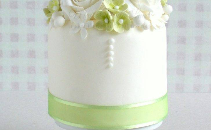 Small Green White Cake