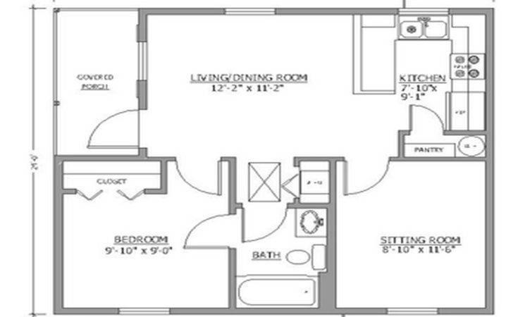 Small Guest House Floor Plans Backyard Pool Houses Cabanas Simple