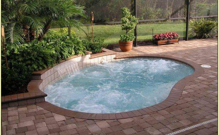 Small Indoor Swimming Pool Further Yard Inground Pools