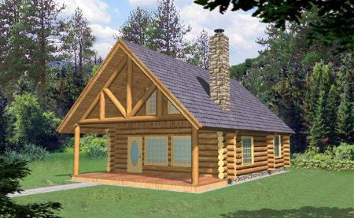 Small Log Cabin Homes Plans Floor Cabins