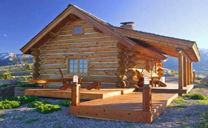 Small Log Cabin Homes Plans Rustic Cabins Mountain