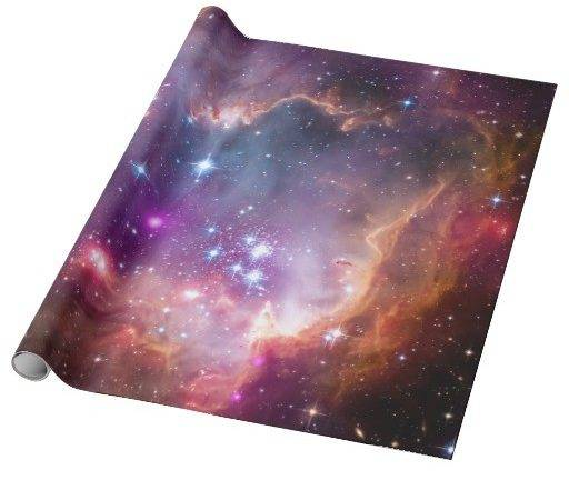 Small Magellanic Cloud Galaxy Space Wrapping Paper Zazzle