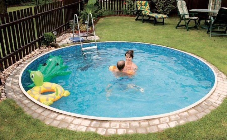 Small Round Inground Pool Backyard Design Ideas