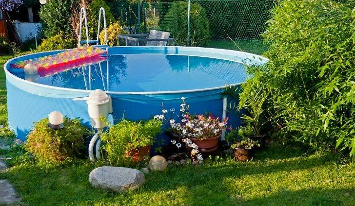 Small Soft Sided Above Ground Swimming Pool Yard