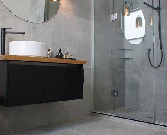 Small Space Large Format Tiles Can Make Look Larger Than