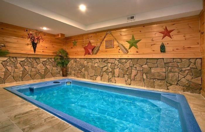 Smoky Mountain Cabin Indoor Pool
