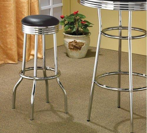 Soda Fountain Bar Stool Chrome Set Modern Stools