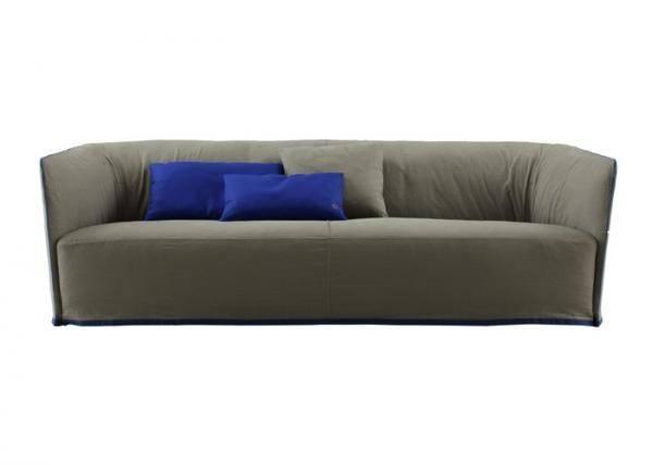 Sofa Dark Color Bright Blue Certificate Wooden