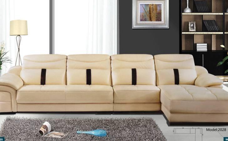 Sofa Latest Modern Leather Sectional Shaped Corner Set