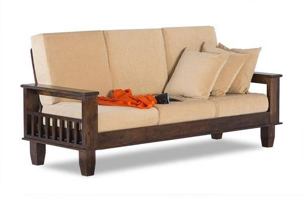 Sofa Set Indian Solid Sheesham Wood Furniture Saraf