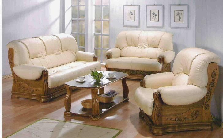 Sofa Set Made Shishum Wood Top Glass Table