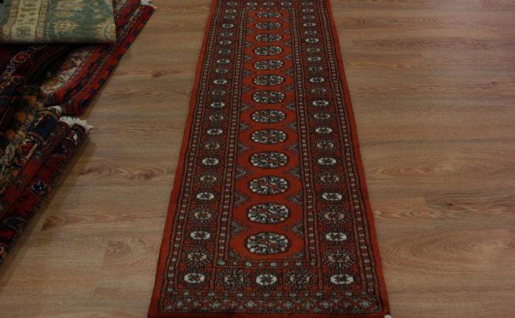 Soft High End Rustic Red Pakistan Hallway Runner Rug Small Wool