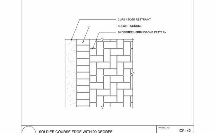 Soldier Course Edge Degree Herringbone Pattern
