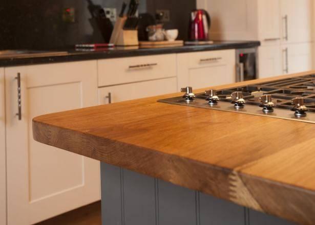 Solid Oak Kitchen Island Worktop Cooke Lewis
