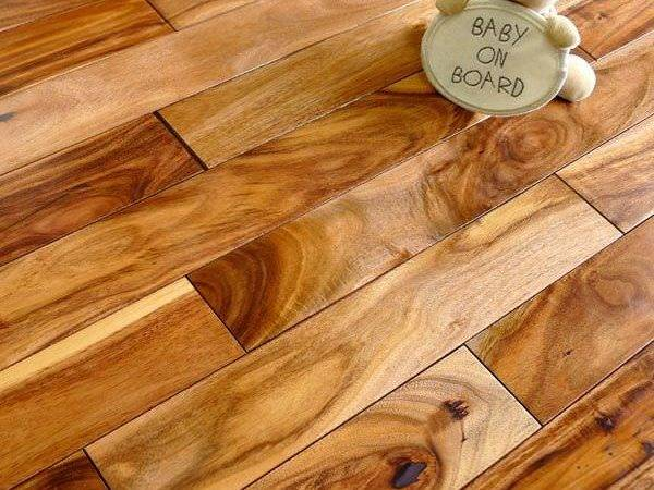 Solid Tropical Acacia Hardwood Flooring Lacquered Floor