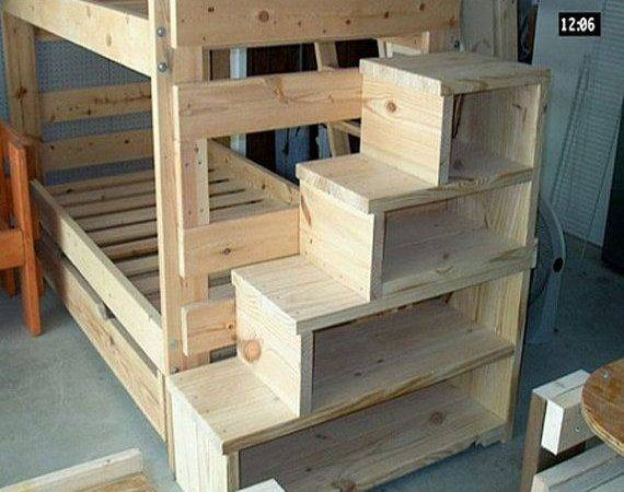 Solid Wood Custom Made Stairs Bunk Loft Bed Usmfs