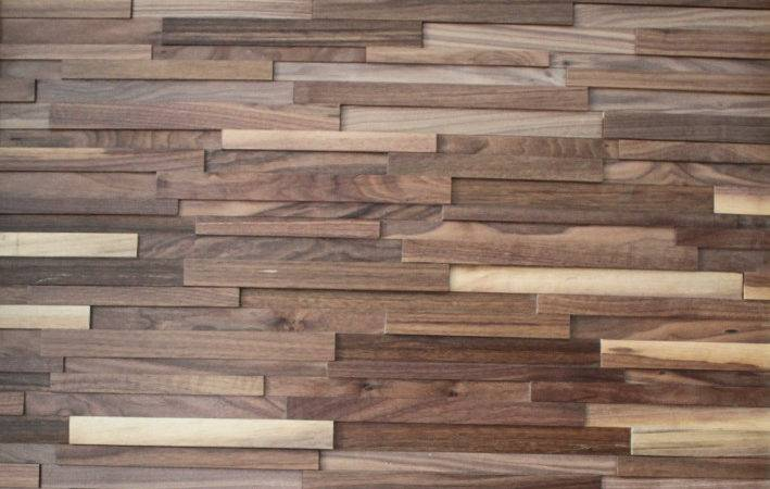 Solid Wood Panel Black Walnut Navilla Wall