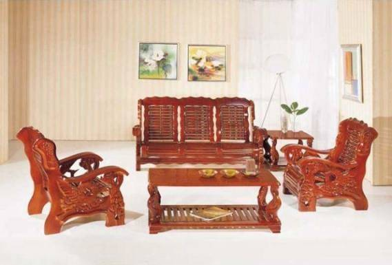 Solid Wood Sofa Design Interior