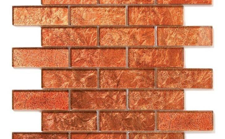 Solistone Uniform Brick Red Glass Tile Glossy