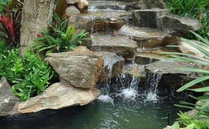 Soothing Backyard Waterfall Ideas Graceful