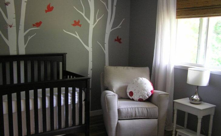 Soothing Gray Nursery Birch Trees Project
