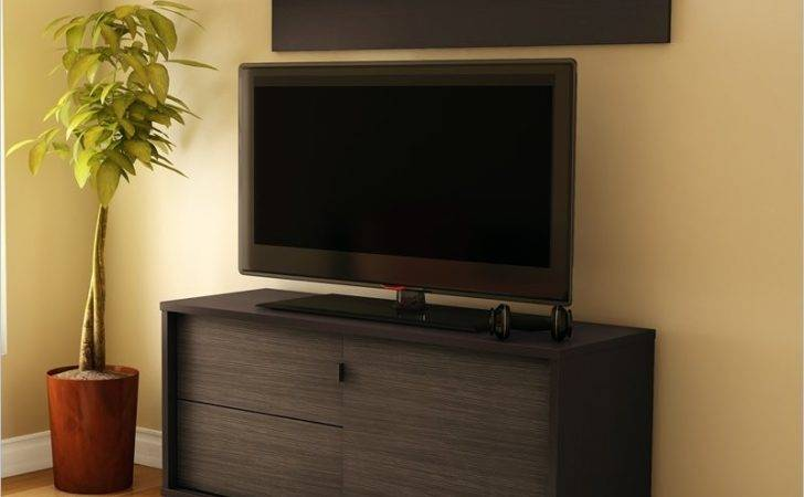 South Shore Agora Collection Stand Chocolate Brown Contemporary