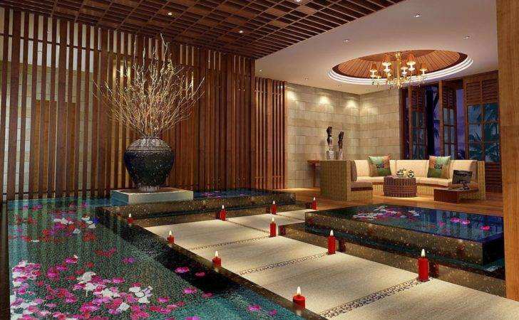 Spa Interior Wood Ceiling Design House