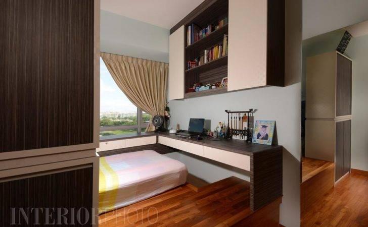 Space Saving Bedroom Design Storage Below Platform Bed